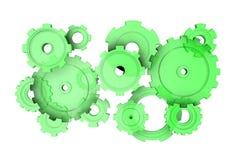 Зеленое механически иллюстрация штока