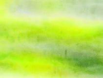 Зеленое мытье бумаги Watercolour Стоковые Фотографии RF