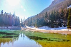 зеленое озеро Стоковые Фото