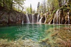 Зеленое озеро Croatie Стоковое Изображение RF