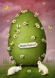Зеленое пасхальное яйцо иллюстрация штока