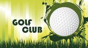 Зеленое поле гольфа иллюстрация штока