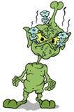 Зеленое положение инопланетянина Стоковая Фотография