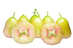 Зеленое розовое Яблоко Стоковые Изображения