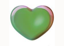 зеленое сердце иллюстрация штока