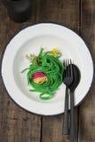 зеленое спагетти Стоковое фото RF