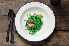 зеленое спагетти Стоковые Изображения RF
