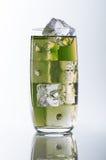 Зеленое стекло и лед Стоковая Фотография