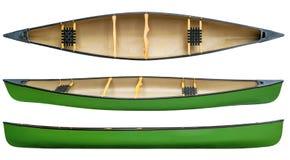 Зеленое тандемное изолированное каное Стоковые Фотографии RF