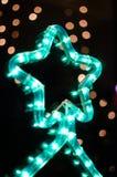Зеленое украшение рождественской елки Стоковые Фотографии RF