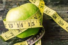 Зеленое яблоко, здоровая жизнь Стоковая Фотография RF