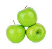Зеленое яблоко кузнца бабушки изолированное на белизне Стоковая Фотография RF