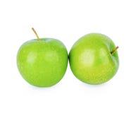 Зеленое яблоко кузнца бабушки на белизне Стоковая Фотография RF