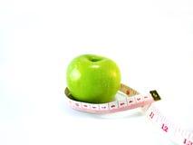 Зеленое яблоко с измерением Стоковое фото RF