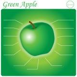 Зеленое Яблоко Infogram Стоковое Фото