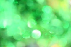 Зеленое Bokeh Стоковые Изображения