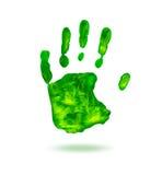 зеленое handprint Стоковое фото RF