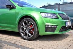 Зеленое Skoda Octavia RS Стоковое Изображение