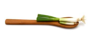 Зеленое vegetablesisolated onions Стоковые Изображения