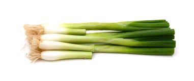 Зеленое vegetablesisolated onions Стоковое Изображение RF