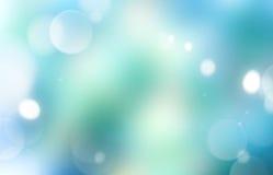 Зеленой предпосылка запачканная синью накаляя Стоковое Фото