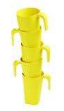 Зеленые бамбуковые кружки Стоковые Фотографии RF