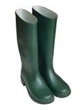 Зеленые ботинки Веллингтона стоковое изображение rf