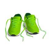 Зеленые ботинки спорта для идущей иллюстрации вектора Стоковые Изображения RF