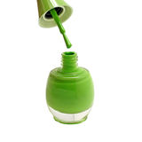 Зеленые бутылки маникюра изолированные на белизне Стоковое Изображение