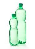Зеленые бутылки с водой Стоковые Изображения RF
