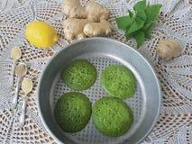 Зеленые блинчики крапивы Стоковые Фотографии RF
