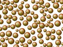 Зеленые восточные сферы на белой предпосылке Стоковое Фото