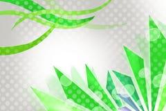 зеленые волны и линии, абстрактная предпосылка Стоковое Фото