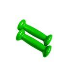 Зеленые гантели для изолированного фитнеса Стоковое Фото