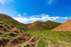 зеленые горы Стоковые Изображения