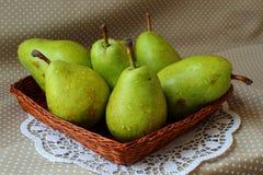 зеленые груши зрелые Стоковое Фото