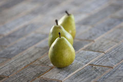 зеленые груши Стоковое Изображение