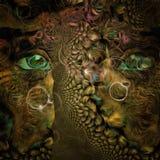 Зеленые глаза иллюстрация штока