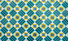 Зеленые декоративные португальские плитки Стоковые Фотографии RF