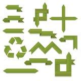 Зеленые ленты и стрелки Иллюстрация штока