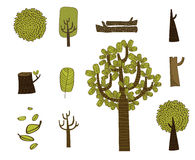 Зеленые деревья Стоковое Изображение RF
