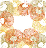 Зеленые, желтые и оранжевые элементы цветка иллюстрация штока