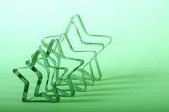 зеленые звезды Стоковое фото RF