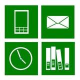 Зеленые значки Стоковые Изображения RF