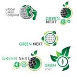 Зеленые значки Стоковые Фото