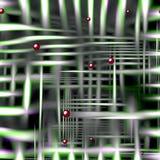 Зеленые линии предпосылка и текстура с сферами Стоковое Изображение