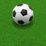 зеленые линии травы футбола поля принципиальной схемы угловойые Стоковая Фотография RF