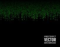 Зеленые линии черточки абстрактной предпосылки праздничные шуточные вертикальные на черной предпосылке вектор изображения иллюстр Стоковая Фотография RF