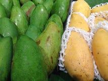 Зеленые и желтые манго Стоковое фото RF
