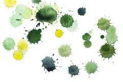 Зеленые и желтые помарки Стоковое Изображение RF